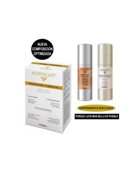 ASPOLVIT PACK SERUM FACIAL 30 ml +CREMA DIA 30 ml