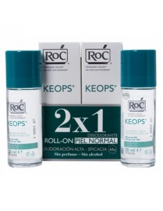 ROC KEOPS DESODORANTE SIN ALCOHOL ROLL-ON 30ML x2
