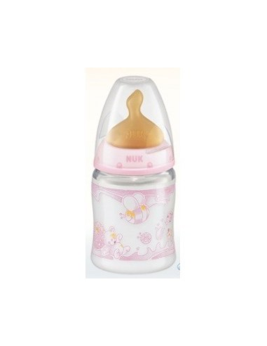 BIBERON 0 BPA PP LATEX NUK FIRST CHOICE 150 CC ROSE T-1 M
