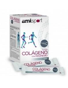 COLAGENO CON MAGNESIO + VITAMINA C 20 STICKS AMLSPORT