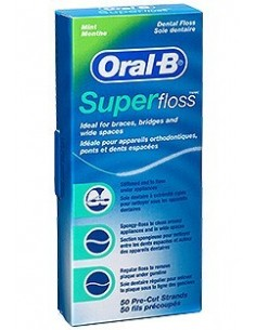 ORAL-B SUPERFLOSS SEDA DENTAL 50 HILOS