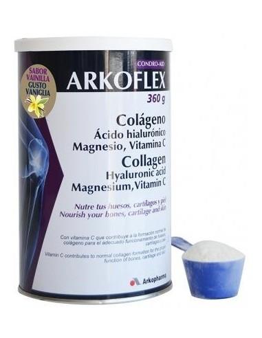 ARKOFLEX COLAGENO+MG+AC. HIAL+VIT C SABOR VAINILLA 360 G