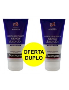 DUPLO NEUTROGENA MANOS RAPIDA ABSORCION 75 ml X 2 U.