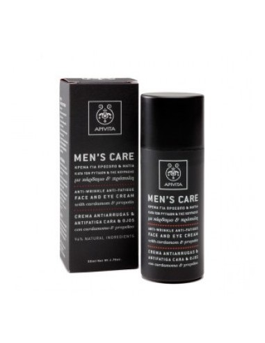 API MEN`S CARE CREMA ANTIARRUGAS Y ANTIFATIGA CARA Y OJOS