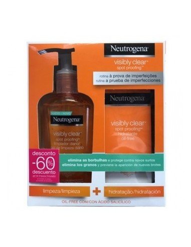 PACK NEUTROGENA VISIBLY CLEAR HIDRATANTE OIL FREE + LIMPIADOR