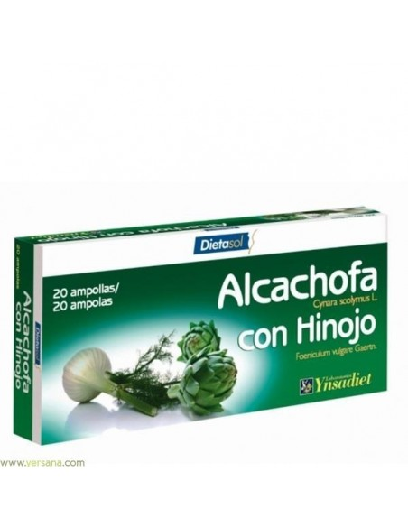 ALCACHOFA CON HINOJO YNSADIET 20 AMPOLLAS